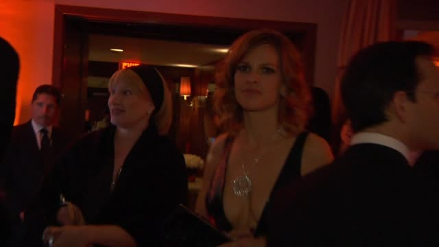 hilary swank at the inside the vanity fair oscar party 2010 at west hollywood ca - hilary swank stock videos & royalty-free footage