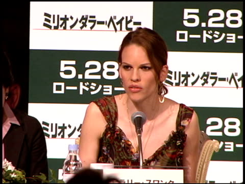 hilary swank at the 'million dollar baby' press conference and premiere at zepp tokyo in tokyo on may 26, 2005. - hilary swank stock videos & royalty-free footage