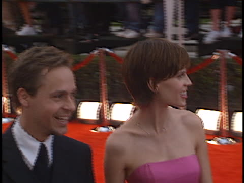 hilary swank at the sag awards at shrine - chad lowe stock videos & royalty-free footage