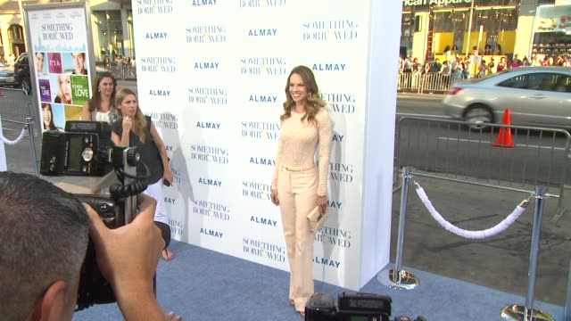 hilary swank at the 'something borrowed' premiere at los angeles ca. - hilary swank stock videos & royalty-free footage