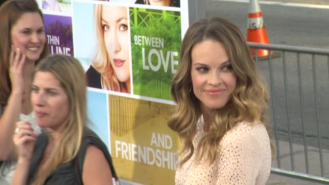hilary swank at the 'something borrowed' premiere at los angeles ca - hilary swank stock videos & royalty-free footage
