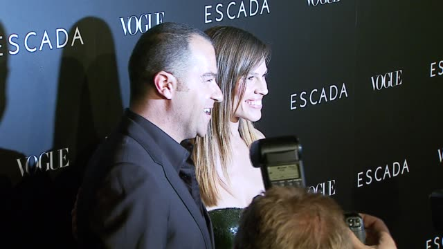 hilary swank at the the grand opening of the beverly hills flagship boutique celebrated by escada, hilary swank and vogue at escada in beverly hills,... - escada stock videos & royalty-free footage