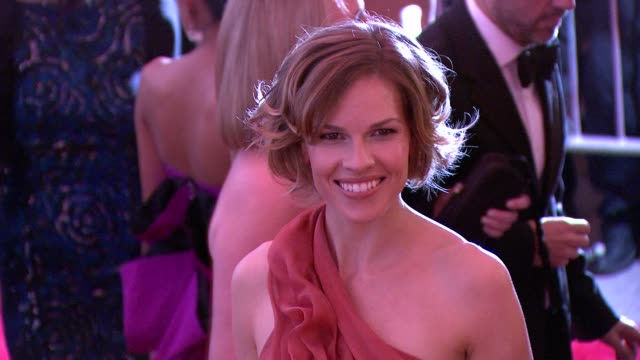 hilary swank at the 'the model as muse embodying fashion' costume institute gala at the metropolitan museum of art arrivals at new york ny - hilary swank stock videos & royalty-free footage