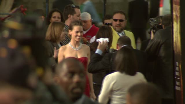 hilary swank at the 'the reaping' premiere at the mann village theatre in westwood california on march 29 2007 - hilary swank stock videos & royalty-free footage