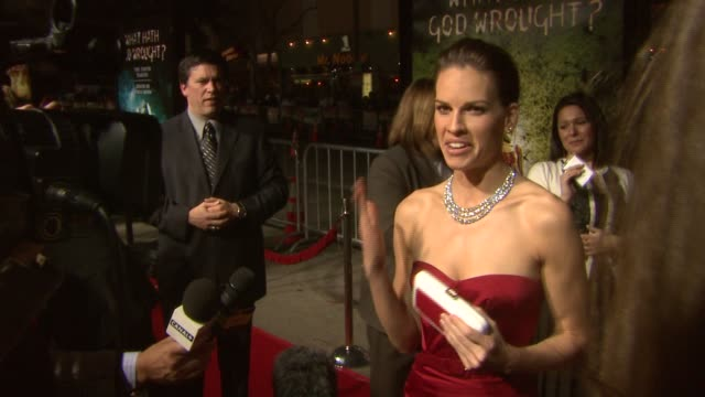hilary swank at the 'the reaping' premiere at the mann village theatre in westwood, california on march 29, 2007. - hilary swank stock videos & royalty-free footage