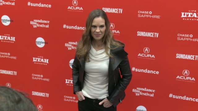 Hilary Swank at the 'What They Had' World Premiere 2018 Sundance Film Festival at Eccles Center Theatre on January 21 2018 in Park City Utah