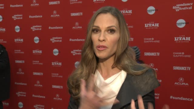 INTERVIEW Hilary Swank at the 'What They Had' World Premiere 2018 Sundance Film Festival at Eccles Center Theatre on January 21 2018 in Park City Utah
