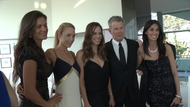 Hilary Swank David Foster at Alfred Mann Foundation's An Evening Under the Stars with Andrea Bocelli in Los Angeles CA