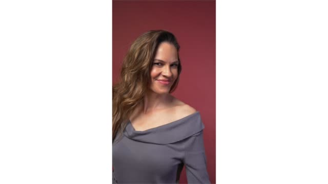 hilary swank from 'i am mother' poses for a portrait in the pizza hut lounge in park city utah on january 26 2019 in park city utah - hilary swank video stock e b–roll