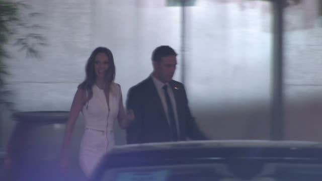 hilary swank leaving j edgar premiere in hollywood - hilary swank stock videos & royalty-free footage