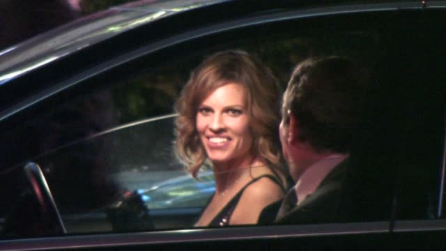 hilary swank leaving sunset tower hotel in west hollywood at the celebrity sightings in los angeles part 2 at los angeles ca - hilary swank stock videos & royalty-free footage