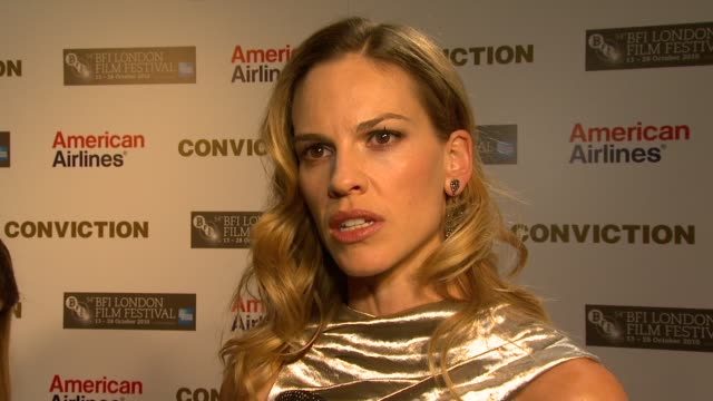 hilary swank on her friends exoneration us judicial system the story of betty and her brother kenny on growing as an artist at the conviction... - hilary swank stock videos & royalty-free footage