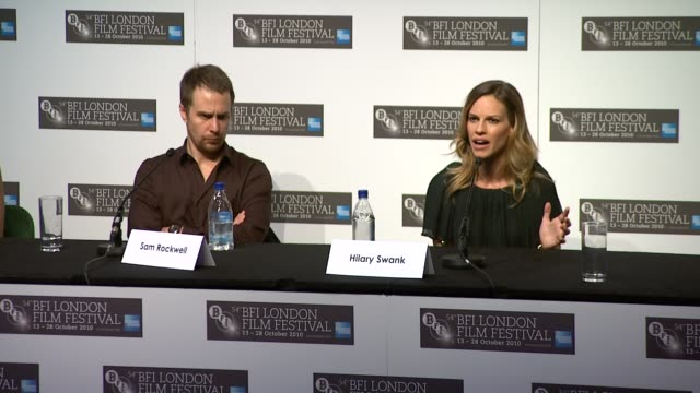 hilary swank on how extraordinary love and selflessness are what's important in life on playing this role has made her a better person - hilary swank stock videos & royalty-free footage