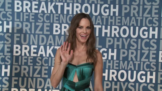hilary swank on november 08 2015 in mountain view california - hilary swank stock videos & royalty-free footage