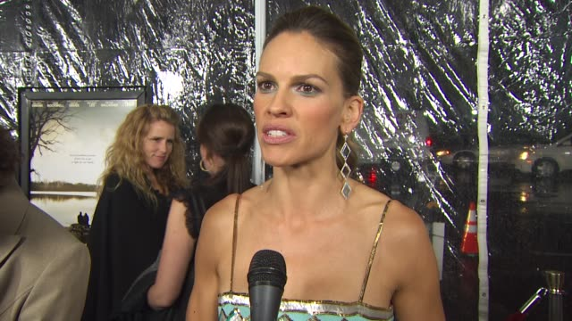 hilary swank on when she knew she wanted to play this role the biggest challenge of playing betty anne if she could see herself doing what betty anne... - hilary swank stock videos & royalty-free footage