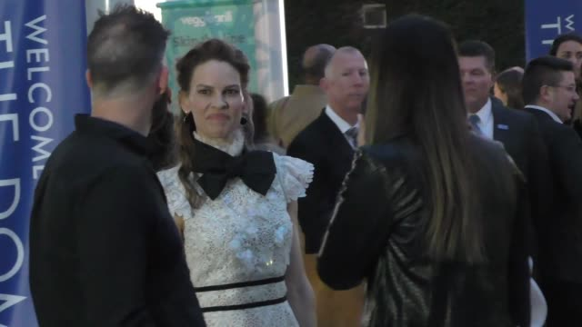hilary swank outside the hunt premiere at arclight cinemas in hollywood in celebrity sightings in los angeles, - hilary swank stock videos & royalty-free footage