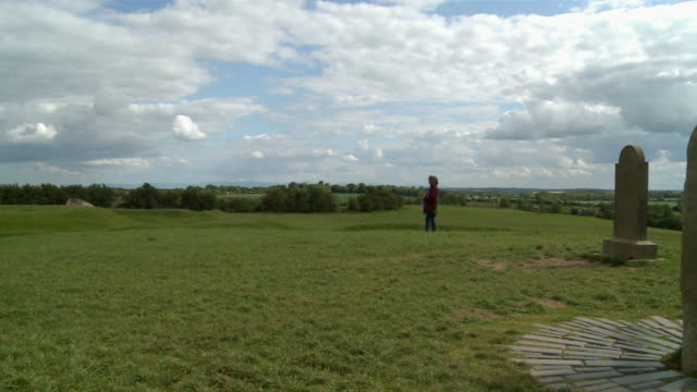 WS PAN Hill of tara with Stone of destiny / Navan, County Meath, ireland