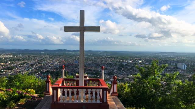 hill of the cross (spanish: loma de la cruz), holguin, cuba - alegría stock videos and b-roll footage