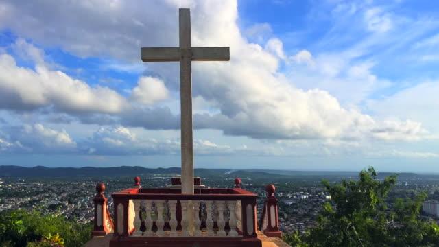 hill of the cross (spanish: loma de la cruz) time lapse, holguin, cuba - alegría stock videos and b-roll footage