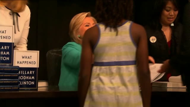 wpix hillary clinton kicks off book tour at barnes noble union square - barnes & noble stock videos & royalty-free footage