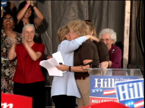 hillary clinton making a presidential campaign stop at the kickoff of club 44 an organization designed to encourage young women to vote/ washington... - 2007 stock-videos und b-roll-filmmaterial