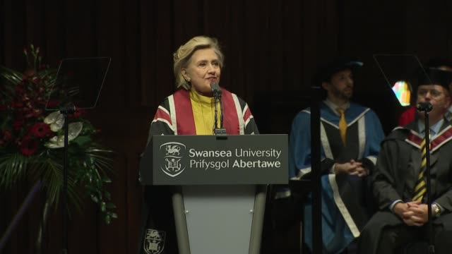 Hillary Clinton presented with honorary doctorate by Swansea University Hillary Clinton presented with Honorary Doctorate by Professor Martin...