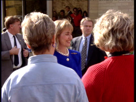 Hillary Clinton shakes hands and greets potential voters in Texas USA 1992