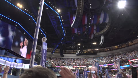 hillary clinton supporters during dnc. - 2016 stock videos & royalty-free footage