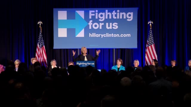 hillary clinton talks about middle class at event for female democratic senators to provide their endorsement of her. - middle class stock videos & royalty-free footage