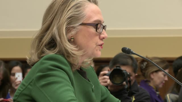 hillary clinton testifies on benghazi attack secretary before house foreign affairs committee at rayburn house office building on january 23 2013 in... - testimony stock videos & royalty-free footage