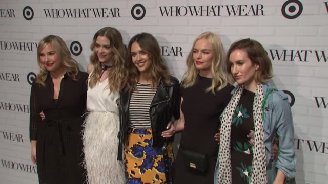 hillary kerr jaime king jessica alba kate bosworth and katherine power at target who what wear launch event at art beam on january 27 2016 in new... - kate bosworth stock-videos und b-roll-filmmaterial