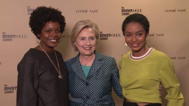 Hillary Rodham Clinton Yara Shahidi at The Teen Vogue Summit 2017 in Los Angeles CA