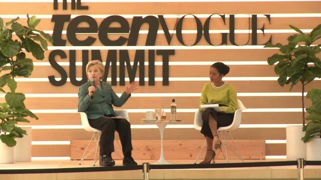 SPEECH Hillary Rodham Clinton Yara Shahidi at The Teen Vogue Summit 2017 in Los Angeles CA