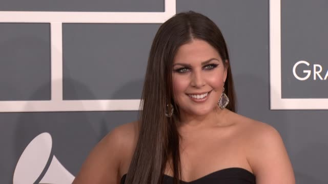 Hillary Scott of Lady Antebellum at 54th Annual GRAMMY Awards Arrivals on 2/12/12 in Los Angeles CA