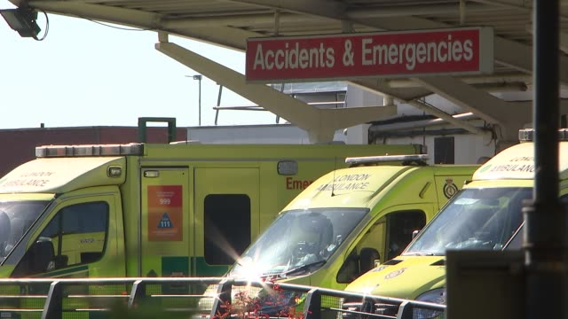 hillingdon hospital general views england london hillingdon hillingdon hospital ext hospital road signs / ambulances outside accidents emergencies... - outpatient care stock videos & royalty-free footage
