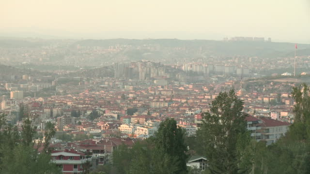 Hills and City of Ankara, Turkey