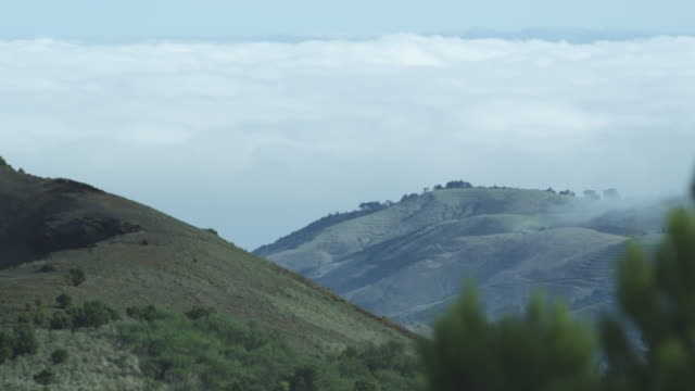 hills and low clouds, el hierro, canary islands, november 2011 - igneous stock videos and b-roll footage
