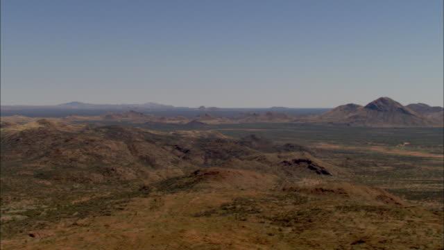 aerial hills in desert landscape, darwin, northern territory, australia - northern territory australia stock videos & royalty-free footage