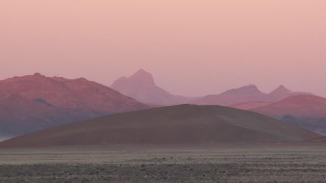 Hills in evening haze, Sossusvlei, Namib-Naukluft, Namibia