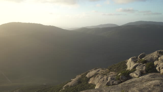 hills of wilsons promontory - hügelkette stock-videos und b-roll-filmmaterial
