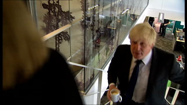 independent panel report policitical reaction / boris johnson apology england london photography *** boris johnson during interview johnson up steps... - hillsborough disaster stock videos and b-roll footage