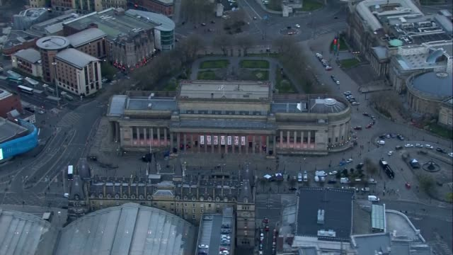 ENVIRONMENT / Hillsborough disaster inquest Aerials of Liverpool ENGLAND Merseyside Liverpool EXT / DUSK **As Incoming** Liverpool cityscape...