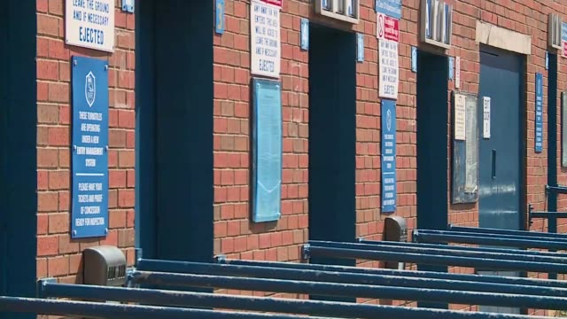 Jury rules that 96 victims were unlawfully killed South Yorkshire Sheffield Hillsborough Stadium West Stand Various of turnstile entrances with large...