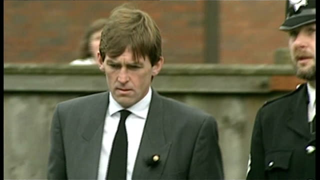 Kenny Dalglish gives evidence / T20048902 Liverpool Kenny Dalglish and other mourners attend funeral iof Hillsborough Disaster victim Gary Church...