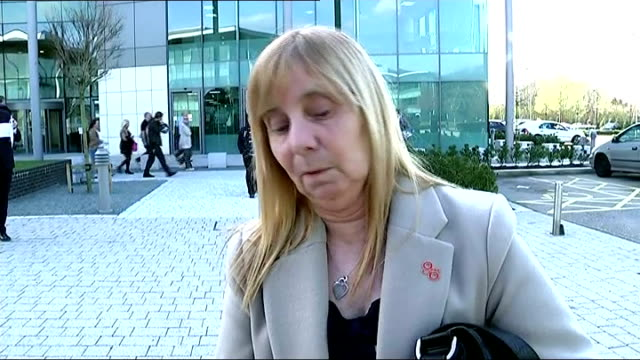 names of victims read out in court EXT Margaret Aspinall interview SOT Reporter to camera