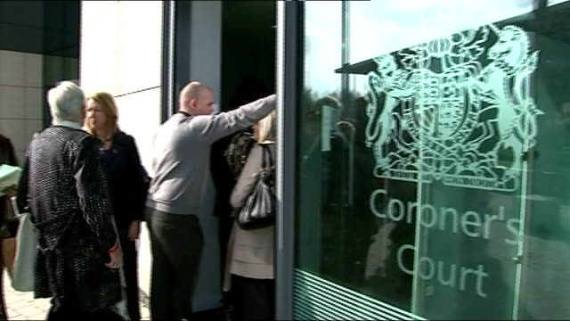 names of victims read out in court Various of relatives queueing to enter Coroner's Court Steve Kelly interview SOT Relatives queue outside court Low...