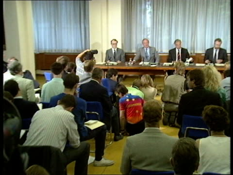 Taylor report ENGLAND London SW1 Home Office INT Lord Justice Peter Taylor at press conference