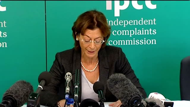 ipcc announces inquiry into police actions london int deborah glass press conference statement sot justice demands that we do whatever is possible to... - hillsborough disaster stock videos and b-roll footage