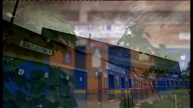ipcc announces inquiry into police actions lib sheffield gvs hillsborough stadium west stand and entrance gates washing hanging in garden with... - hillsborough disaster stock videos and b-roll footage