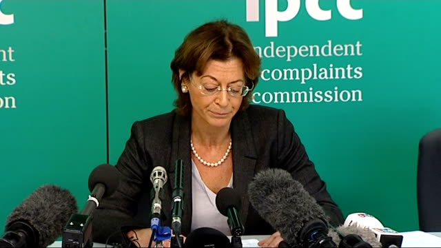 ipcc announces inquiry into police actions london independent police complaints commission int deborah glass statement sot there are a number of... - hillsborough disaster stock videos and b-roll footage